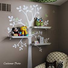 Wall Decals Baby Nursery Wall Decals Baby Nursery Decor Shelving Tree Decal With Birds