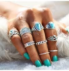 knuckle rings images 10 pcs set rose heart midi ring sets boho beach anillos vintage jpg