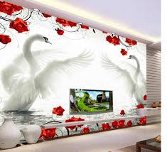 online get cheap red rose wall mural aliexpress com alibaba group 3d wallpaper for room living style wallpaper swan red rose pattern background wall murals living 3d