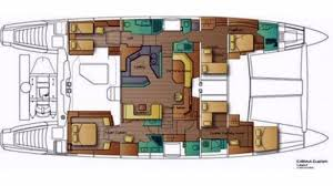 Yacht Floor Plan by Luxury Charter Yacht Orion Catana Sailing Yacht 2008