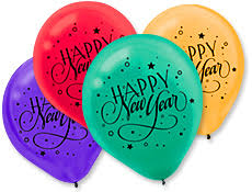 happy new year balloon new years party supplies and printable for