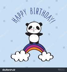 happy birthday card blue background hand stock vector 659661616