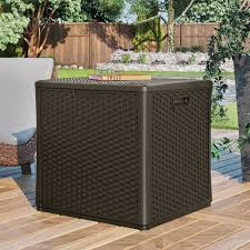 Suncast Patio Storage Bench Patio Storage Benches For Organize Your Garden Elegant Furniture
