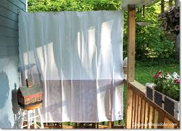 Outdoor Patio Curtain Diy Porch Curtains Made With 10 Shower Curtain Liners
