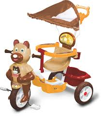 tricycle cartoon buy toyzone kangaroo tricycle brown online at low prices in india