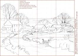 drawn lines landscape pencil and in color drawn lines landscape