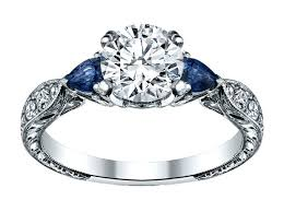 Sapphire Wedding Rings by Diamond And Blue Sapphire Engagement Ring Diamond Engagement Ring