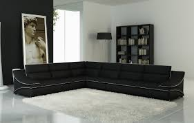Sofa Casa Leather Casa 5076c Black Leather Sectional Sofa