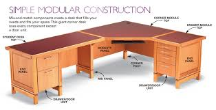 Free Woodworking Plans Writing Desk by How To Build A Modular Desk System Free Diy Desk Plans