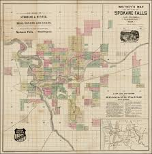 Spokane Washington Map Whitney U0027s Map Of The City Of Spokane Falls And Environs