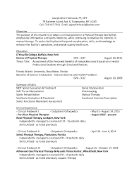 thesis title about physical education pt dpt outpatient ortho resume