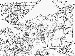 lego pirates jungle coloring pages printable
