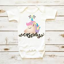 1st birthday onesie unicorn birthday onesie personalized baby girl clothes