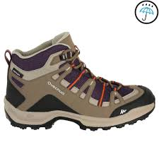 womens boots 100 arpenaz 100 mid wtp s hiking boots purple quechua