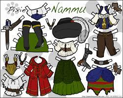 pirate nammu printable paper doll u2022 paper thin personas