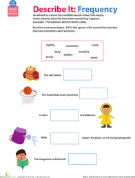 2nd grade adverb worksheets 2nd grade free printable