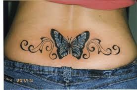 lower back butterfly designs 3d butterfly back