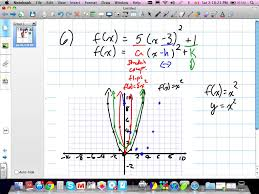 transforming and graphing quadratic functions grade 11 mixed