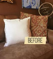 fall crafts chalkpaint pumpkin pillow diy