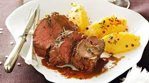 cuisiner du chevreuil au four recette de filet de chevreuil au jus d érable et purée de patates