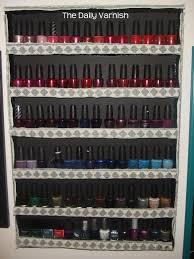 diy nail polish rack u2013 the daily varnish