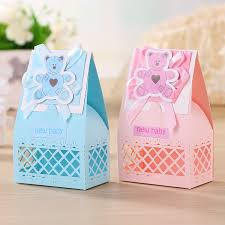 baby shower gifts for guests aliexpress buy pink and blue baby favors boxes baptism