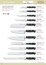 pro kitchen knives 1552 chef knives bavaria 3 claveles professional knives cook