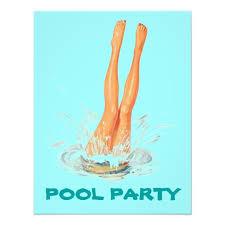 pool party invitations diving legs retro swimming pool party invitations zazzle