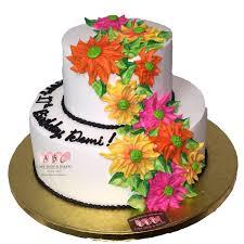 birthday cake shop 1795 2 tier floral birthday cake abc cake shop bakery