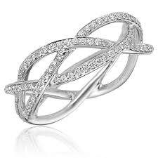 braided ring 0 53ct f i1 diamond braided ring