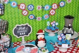 Winter Onederland Party Decorations Penguin 1st Birthday Banner Winter Onederland Birthday Party