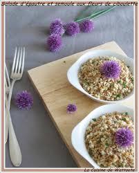 fleurs de ciboulette en cuisine salade d épautre et semoule aux fleurs de ciboulette la cuisine de