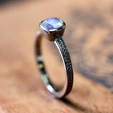 Moonstone Wedding Ring by White Gold Moonstone Ring Rainbow Moonstone Engagement Ring