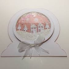 11 best snowglobe cards images on craftwork cards