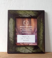 painted reclaimed evergreen wood picture frame home decor