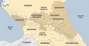map of europe russia and the independent republics caucasus guide to a volatile region news