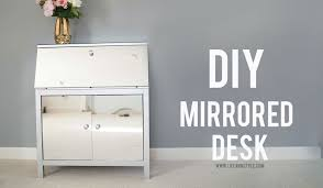 Mirrored Desks Furniture Diy Mirrored Desk Ikea Desk Hack U2013 Ann Le Style