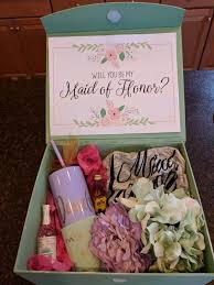 will you be my of honor gift 20 of honor ideas she loved it and said yes