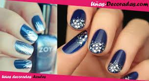 uas de gelish decoradas uñas decoradas en azul diseños fotos y consejos