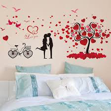 bedroom wall stickers love birds hearts tree wall stickers heart tree wall sticker and