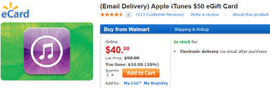 sell egift card walmart selling 50 itunes gift card for 40 cnet