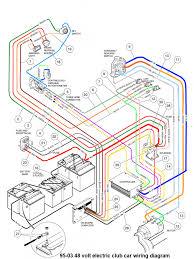 battery wiring diagram for 48 volt club car golf cart 48volt 1 1