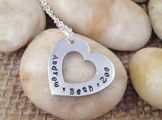 Mothers Necklace With Children S Names Personalized Hand Stamped Mom Necklace With Kids Names Gift For