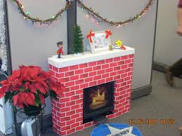 decoration ideas attractive home interior design and decoration using cubicle christmas decoration including brown brick fireplace surround and small