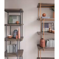 mensole rovere grigio mensole metallo moderne free mensole di bamb per cremagliera in