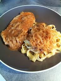 cuisiner une escalope de dinde escalope de dinde aux oignons sauce crème et fond de veau 3