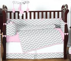Pink Chevron Crib Bedding Decoration Pink Chevron Crib Bedding Style Zig Zag And Gray Baby