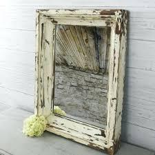 large rustic wood frame mirror rustic wood framed bathroom mirrors