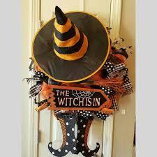 halloween deco mesh witch wreath scott u0027s marketplace