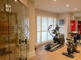french door plantation shutters gym full height u2013 the shutter studio